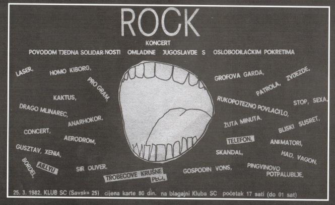plakat koncert s 1982